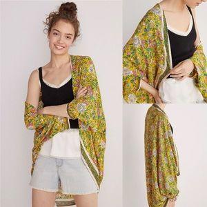 Anthropologie Brianna Floral Cocoon Kimono OS NWT